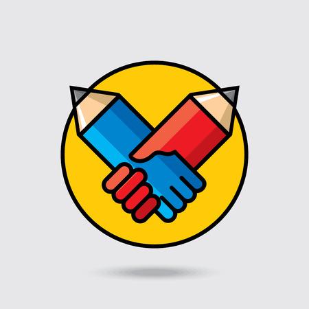 Creative education deal idea Ilustrace