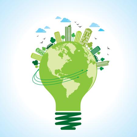 Ökologie-Konzept - retten Erde, Energie