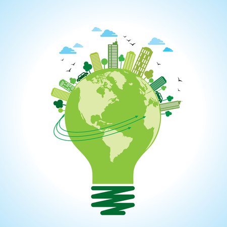 ecology concept - save earth, energy Illustration