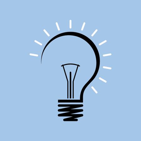Vector flache Glühbirne. Moderne Glühbirne Symbol. Konzeptideen, Innovationen