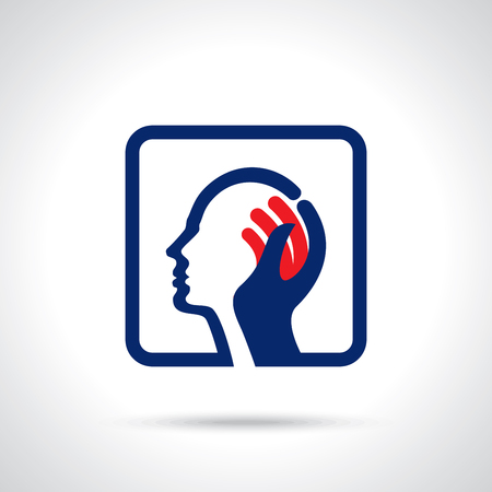 Der menschliche Kopf denkt eine neue Idee Illustration