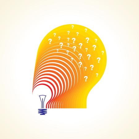 Bunte Fragezeichen-Lampe Stock Vektor Illustration