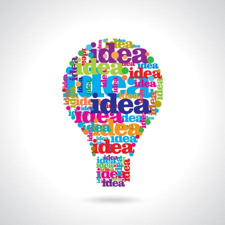 energysaving: Vector flat light bulb. Modern light bulb icon. Concept ideas, innovations Illustration