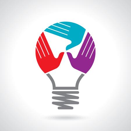 Kreative Vektor Teamwork-Konzept