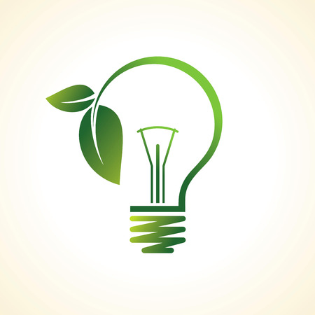 grüne Öko-Energiekonzept, Pflanze wächst im Inneren der Glühbirne