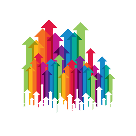 Konzept der Geschäftsbewegung, Pfeile Illustration