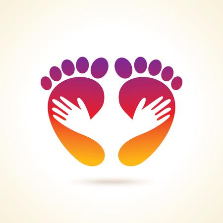 creative foot care icon Illustration