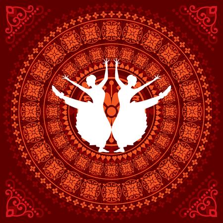 illustration of Indian classical dancer Illustration