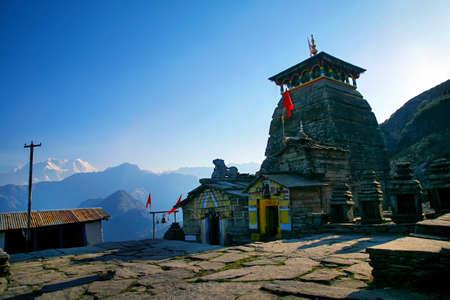 Beautiful scenic landscape of chopta / Tungnath, uttarakhand, india. Banque d'images