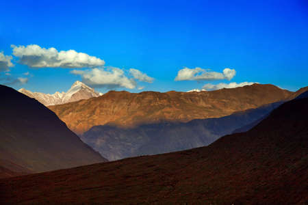 Beautiful himalayan landscape. Spiti Valley, Himachal Pradesh, India