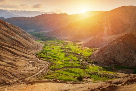 Hundar, Beautiful landscape of nubra valley in Leh, Ladakh. India.