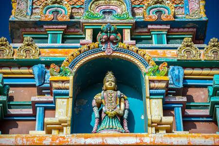 colorful house in town of kanyakumari, Tamil Nadu. India.