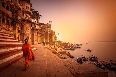 Varanasi, Uttar Pradesh, India - December 13, 2015 : Sadhu, An Indian Holy man, varanasi, Banaras, uttar pradesh, india.