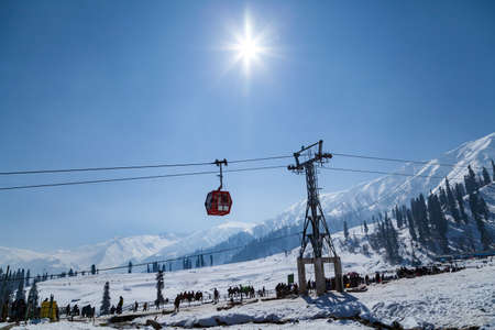 Gandola Cable car in Gulmarg, Jammu and Kashmir, India