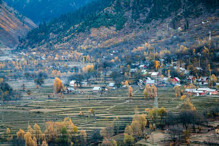 A village near hill station Sonmarg, Jammu and Kashmir, India