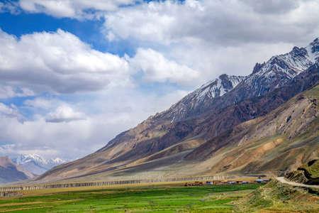 Himalayan landscape near Hull. Spiti Valley, Himachal Pradesh, India