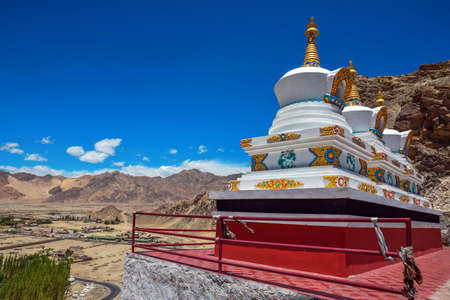 Buddhist monastery of Thikse. Imposing series of temples and houses built on a rocky crag. 15th Century AD. Ladakh, India