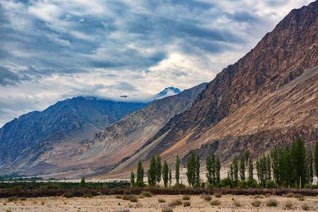 Beautiful landscape of nubra valley in Leh, Ladakh. India