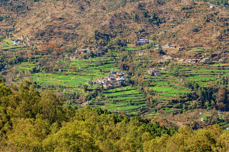 Village in remote himalayan region, Near manali, himachal pradesh India