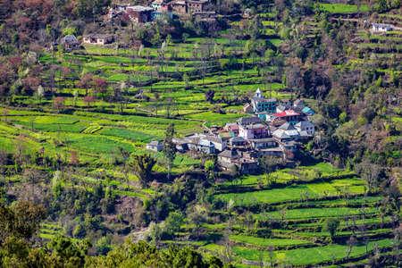 Village in remote himalayan region, Near manali, himachal pradesh India
