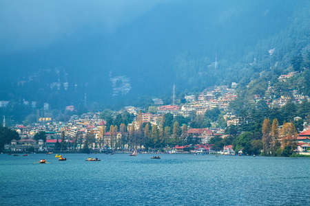 Beautiful landscape of Himalayan hill station Nainital, Uttarakhand, India