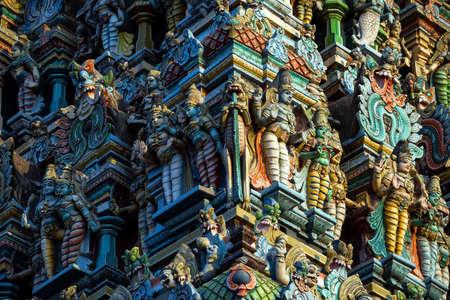 Meenakshi hindu temple in Madurai, Tamil Nadu, South India