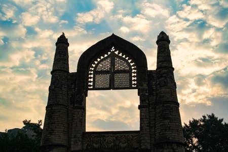 View of Badal Mahal Gate (Darwaza) in Chanderi, Madhya Pradesh, India.