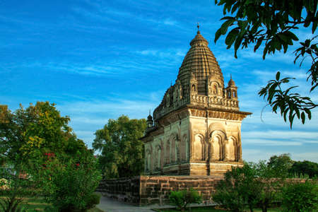 Islamic Temple, Western Group of Temples, Khajuraho, Madhya Pradesh, India. Imagens