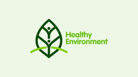 people & nature balance, eco lifestyle concept vector icon. healthy growth Concept.
