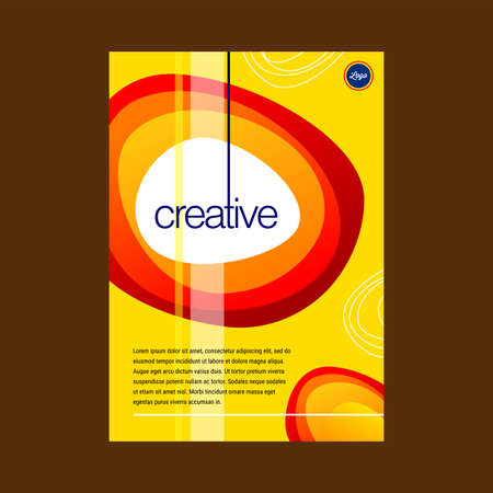 Orange & yellow Color Scheme Business Book Cover Design Template in A4. Can be adapt to Brochure, Annual Report, Magazine,Poster, Corporate Presentation, Portfolio, Flyer, Banner, Website