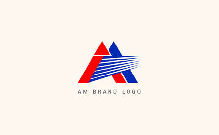 AM Letter  Design with Creative Modern Trendy Typography