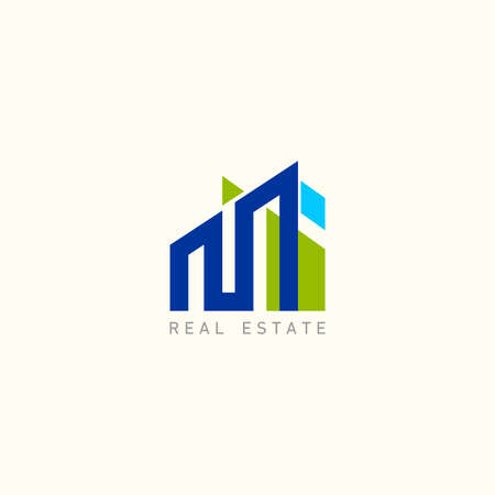 Real estate design template, Construction Architecture Building symbol vector.