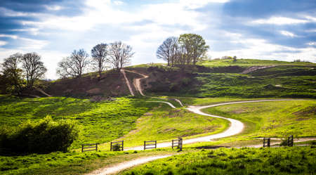 hills and mountain bike trails of Hadleigh Park near Benfleet, Essex, UK