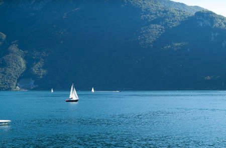 a view of Lake Como from the little Italian town of Abbadia Lariana