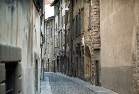 photo of Via Arena in Bergamo, a town near lake Como Stock Photo