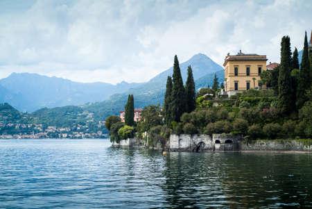 a picturesque view of Lake Como from Villa Monastero in Italy Archivio Fotografico