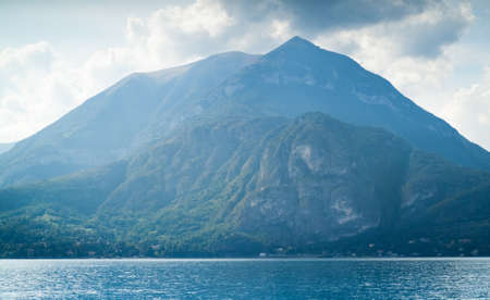 beautiful view of mountains near Lake Como in Italy