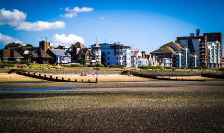 seaside houses near the beach in Chalkwell, UK Editorial