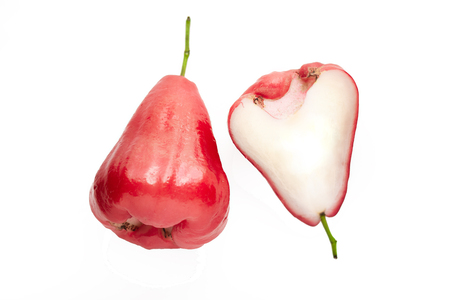 Perfectly retouched Rose apple fruit isolated on white background Stock Photo