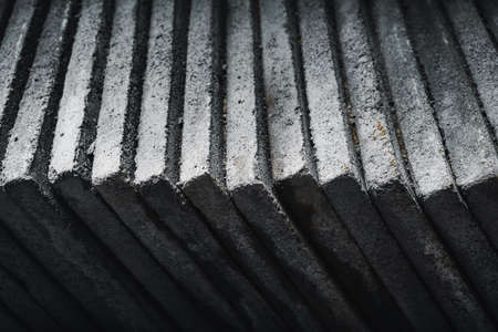 Cement board surfaces are stacked together. 版權商用圖片