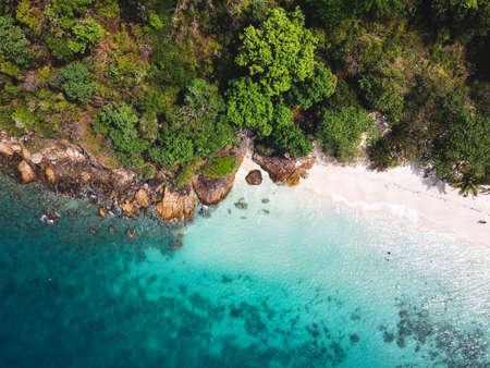 Aerial view Islands thailand,Sea view, beach on the island, tropical sea island