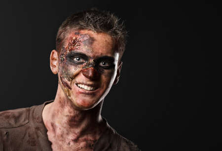 The zombie is monster in the studio Stock Photo - 16143013