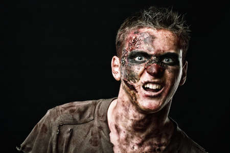 The roar  zombie is monster  in the studio Stock Photo - 16194019