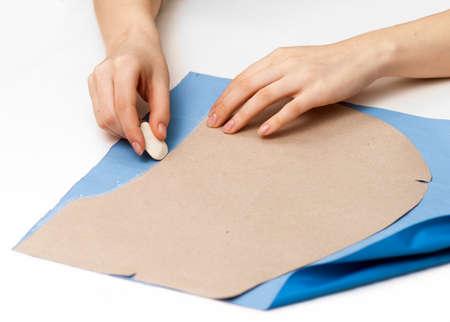 stroke patterns on fabric on white Stock Photo - 17471815