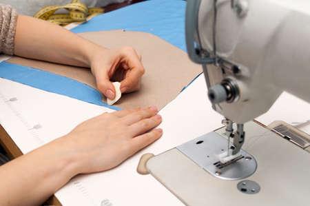 stroke patterns on fabric on white desk Stock Photo - 17471865
