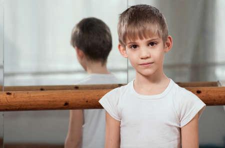 barre: little dancer standing near barre