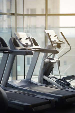 simulators: racing simulators in the gym morning