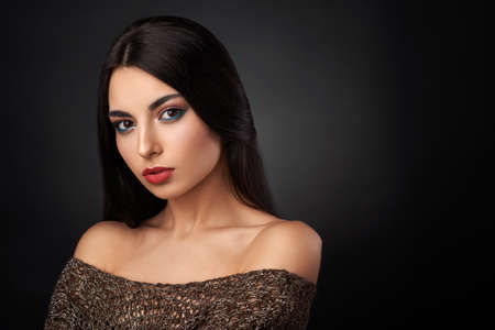 tempt: beautiful brunette with good skin