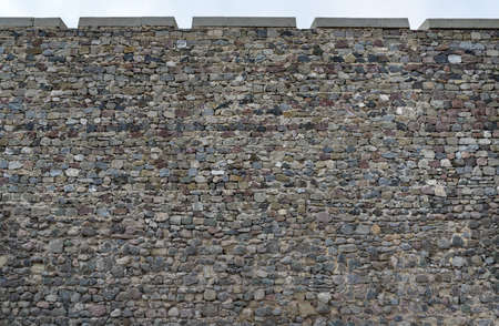rubble: old stonework of the fortress wall