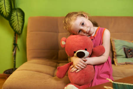 loves: beautiful girl loves pink teddy bear